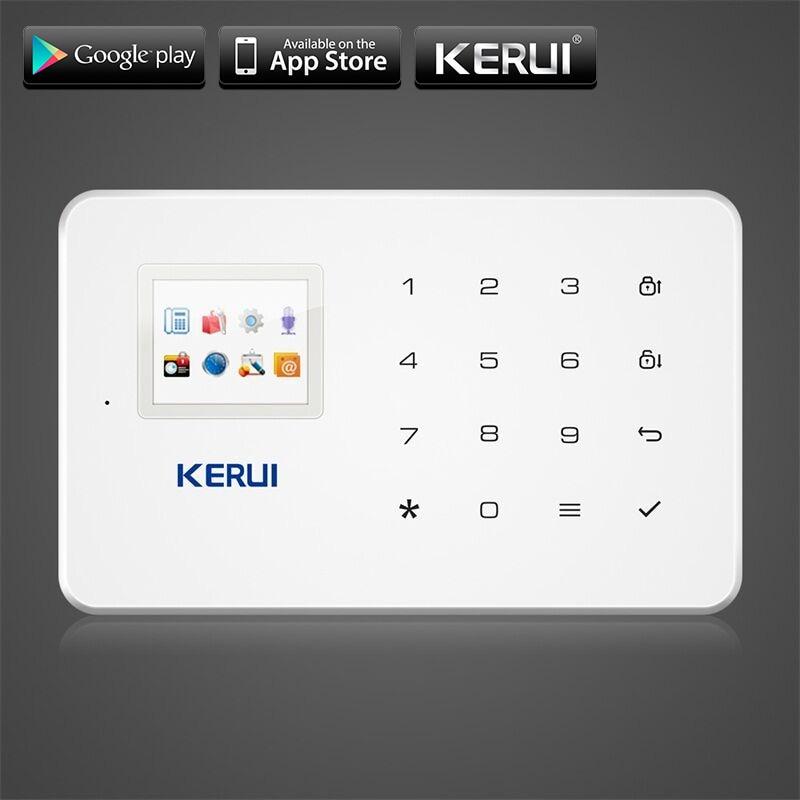 KERUI G18 GSM Home Security Alarm System Built-in Antenna Alarm Anroid IOS App Remote Control Low-voltage Remind AlarmKERUI G18 GSM Home Security Alarm System Built-in Antenna Alarm Anroid IOS App Remote Control Low-voltage Remind Alarm