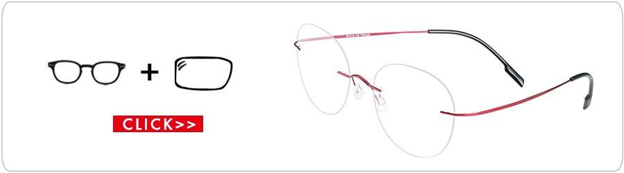 Miopia Armações Claras Óculos Eyewear