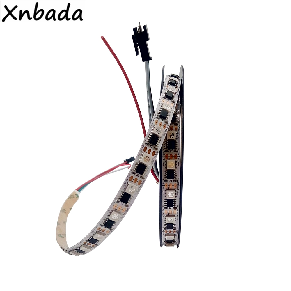 WS2811 RGB Full Color Led Strip 5050SMD 60Leds/m 1 IC Control 1led Individually Addressable Smart IC RGB Led Light DC5V fitt ic 1 2 50 idro color