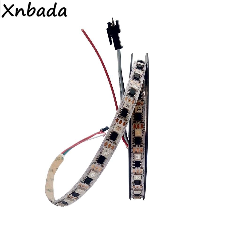WS2811 Rvb bande LED couleur 5050SMD 60leds/m 1 IC Contrôle 1led Individuellement Adressable Intelligent D'IC RVB lumière LED DC5V