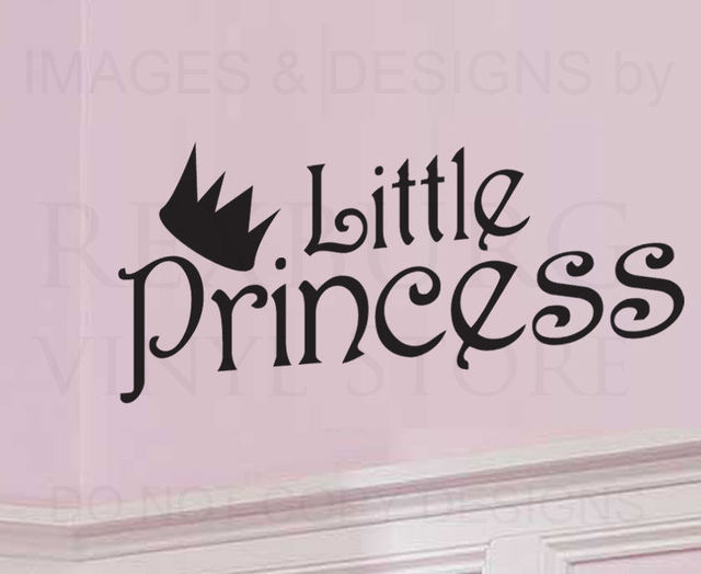 Wall Decal Sticker Quote Vinyl Lettering Little Princess Baby Girls