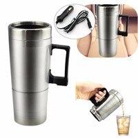 ステンレス鋼12ボルト車加熱カップミルク水茶コーヒー瓶ウォーマー温水トラベルマグ用旅行キャン