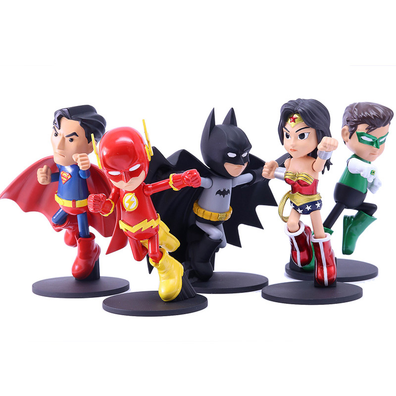 Superman Batman Action Figure Wonder Woman Christmas Toys Green Lantern Doll Toys Justice League Figure new hot 19 22cm justice league batman v superman dawn of justice wonder woman action figure toys collection christmas gift doll