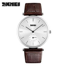 Factory skmei waterproof quartz men watch women for business mens top brand luxury erkek kol saati relogio Leather watches