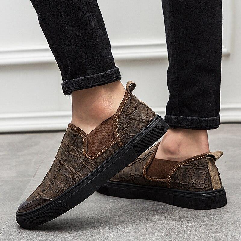 b61cdee5aa ... light De khaki Homem Brown Primavera Masculina Casuais Cáqui Mens Fundo  Black Luz Shoes Homens Plana