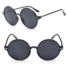 09ca150f58 Detail Feedback Questions about Vintage Overside Round Sunglasses Black Full  Rim Retro Fashion Men Women Sun Glasses Rx able on Aliexpress.com