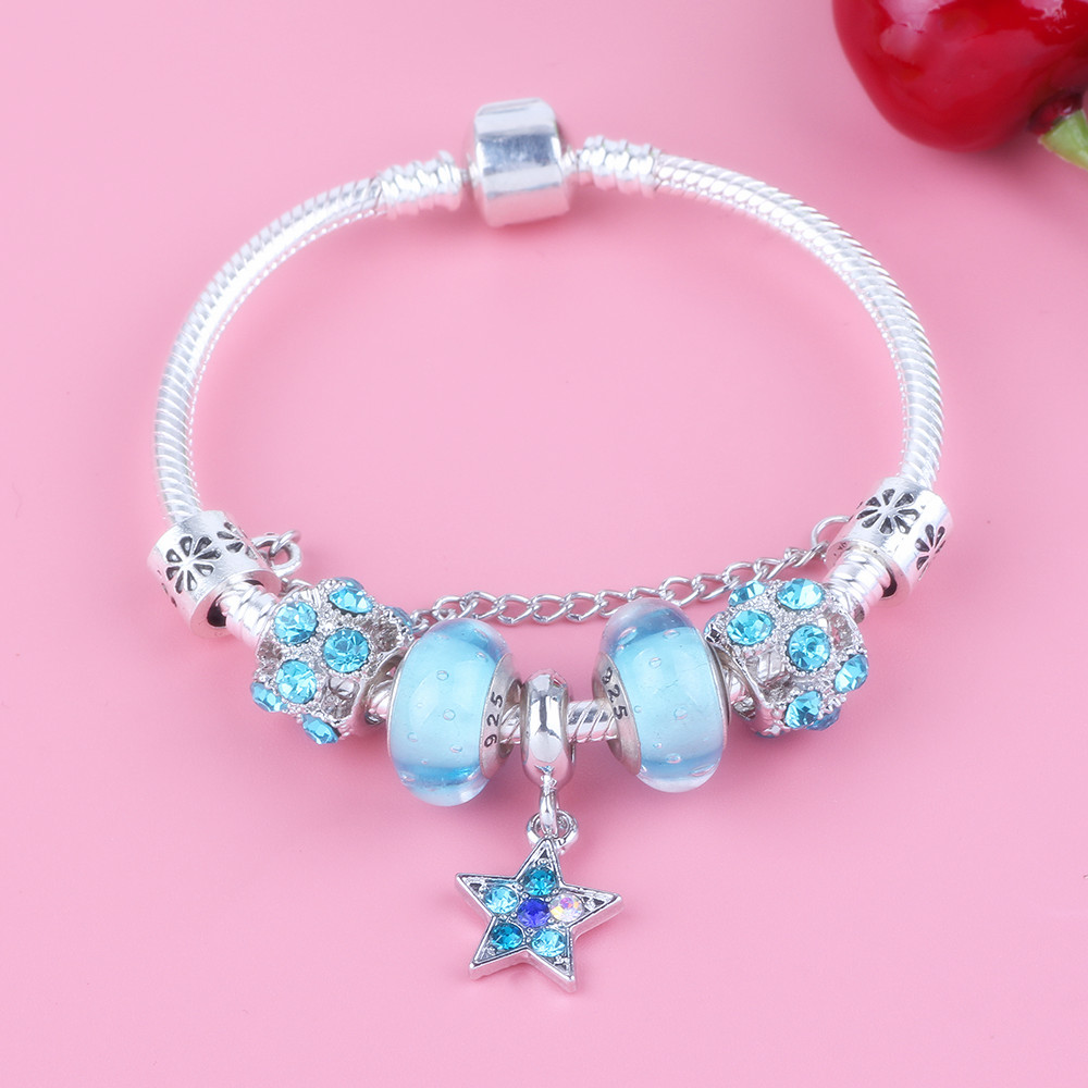 AIFEILI New Star Pendant Light Blue Glass Beads Safety ...