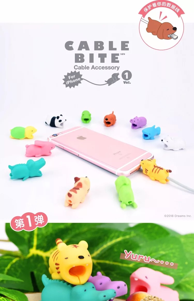 HTB1lNlcDkKWBuNjy1zjq6AOypXaF 1 pcs Animal Cable bites Protector for Iphone protege cable buddies cartoon Cable bites kabel diertjes Phone holder Accessory