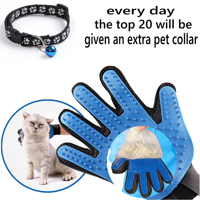 Cat Grooming Glove Mascot Pet Hair Glove Removal Brush Mitts Deshedding Brush Combs Cat Dog Combs Supplies Bath Cleaning Massage