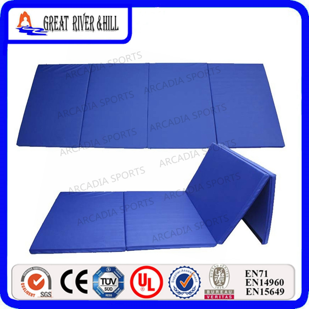 Popular Gymnastics Crash Mats Foam Exercise Mat 2.4mx1.2mx5cm gymnastics mat thick four folding panel fitness exercise 2 4mx1 2mx3cm