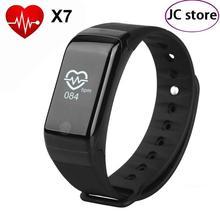 X7 сердечного ритма монитор Smart Band Bluetooth 4.0 трекер активности браслет шагомер браслет Air Давление мониторинга