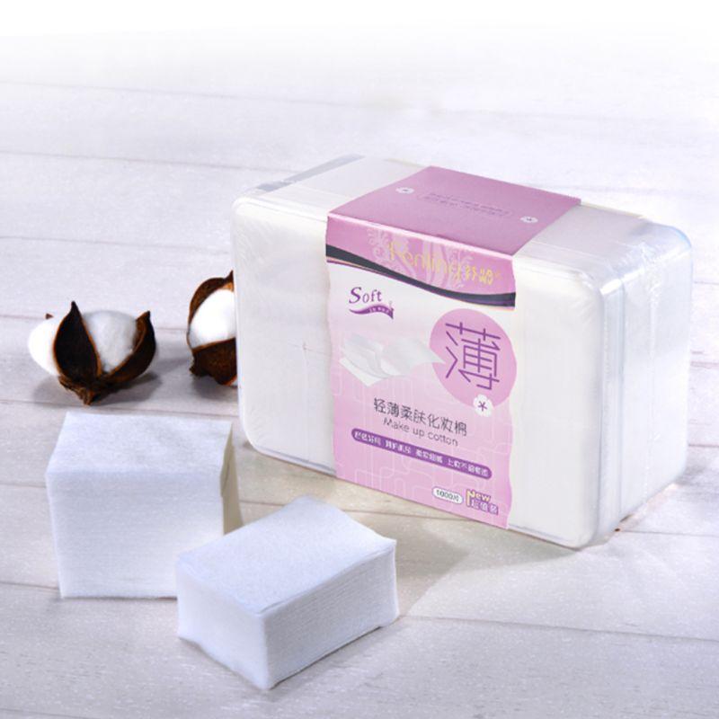 1000 Pcs/Set Cotton Cushion Makeup Remover Pad Thin Soft Cleaning Toning Facial Cosmetic Nail Beauty Polish Skin Care Wipes