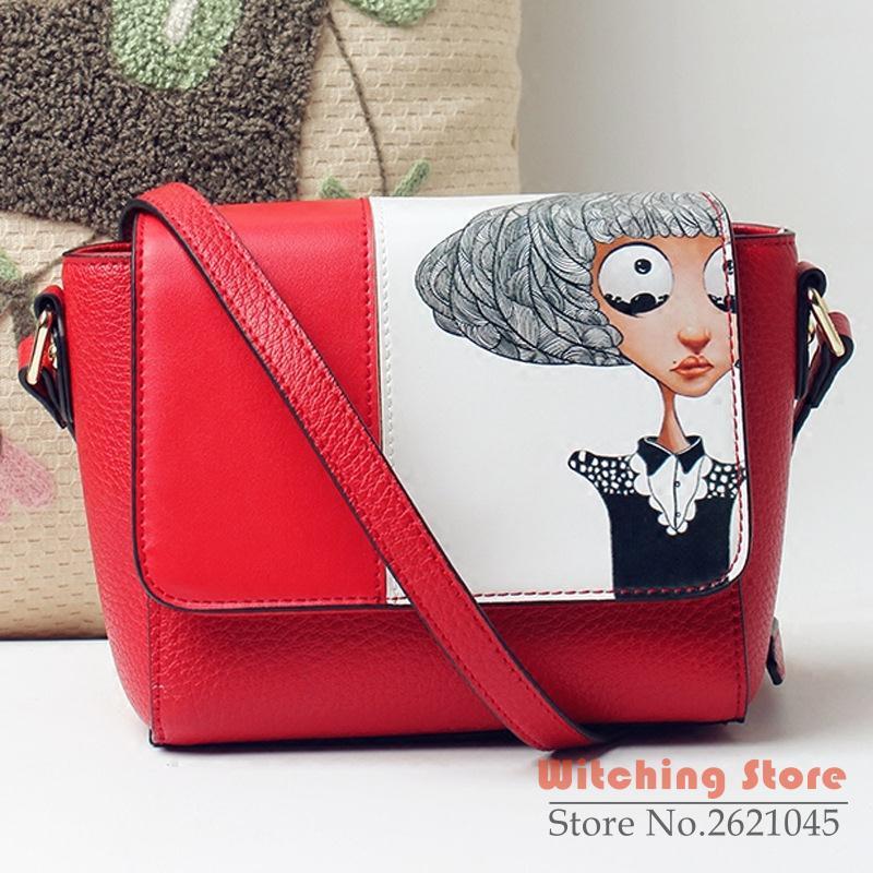 Perfect#  new handbag graffiti original series cute shoulder Mini bulk printing