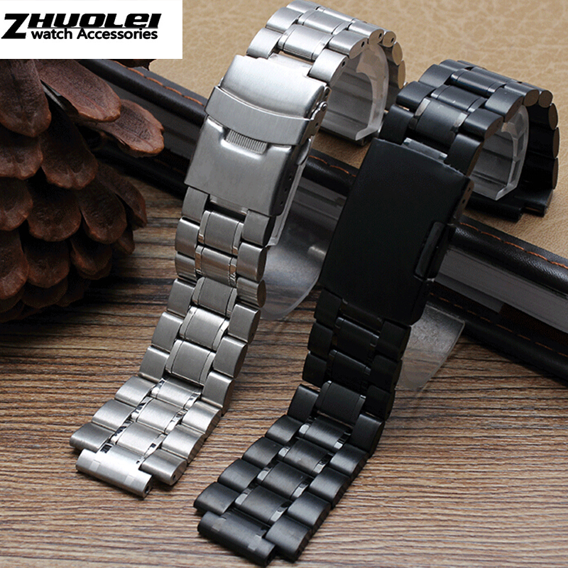 58c4e3c93683 stainless steel watchband for men s TIMEX T2N720 T2N721 TW2R55500 T2N721  watch strap 24 16mm lug