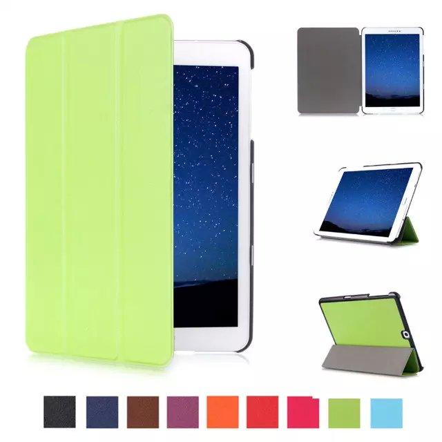 CY карст моделей Slim раскладной стенд кожаный чехол сна/Wake Up Cover Защитная пленка для Samsung Galaxy Tab S2 t815 9.7 Tablet