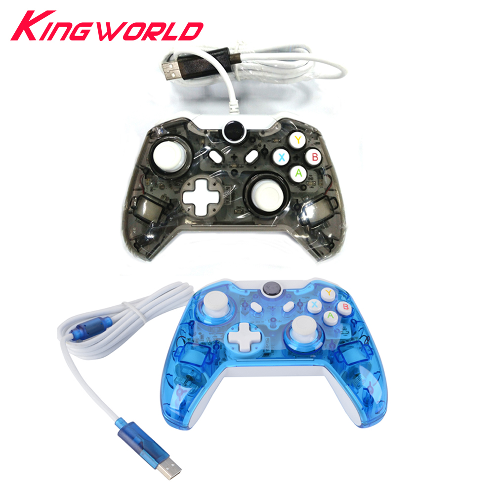 10pcs High quality USB Wired Controller with lED lights For Microsoft Xbox One Controller Gamepad Joystick