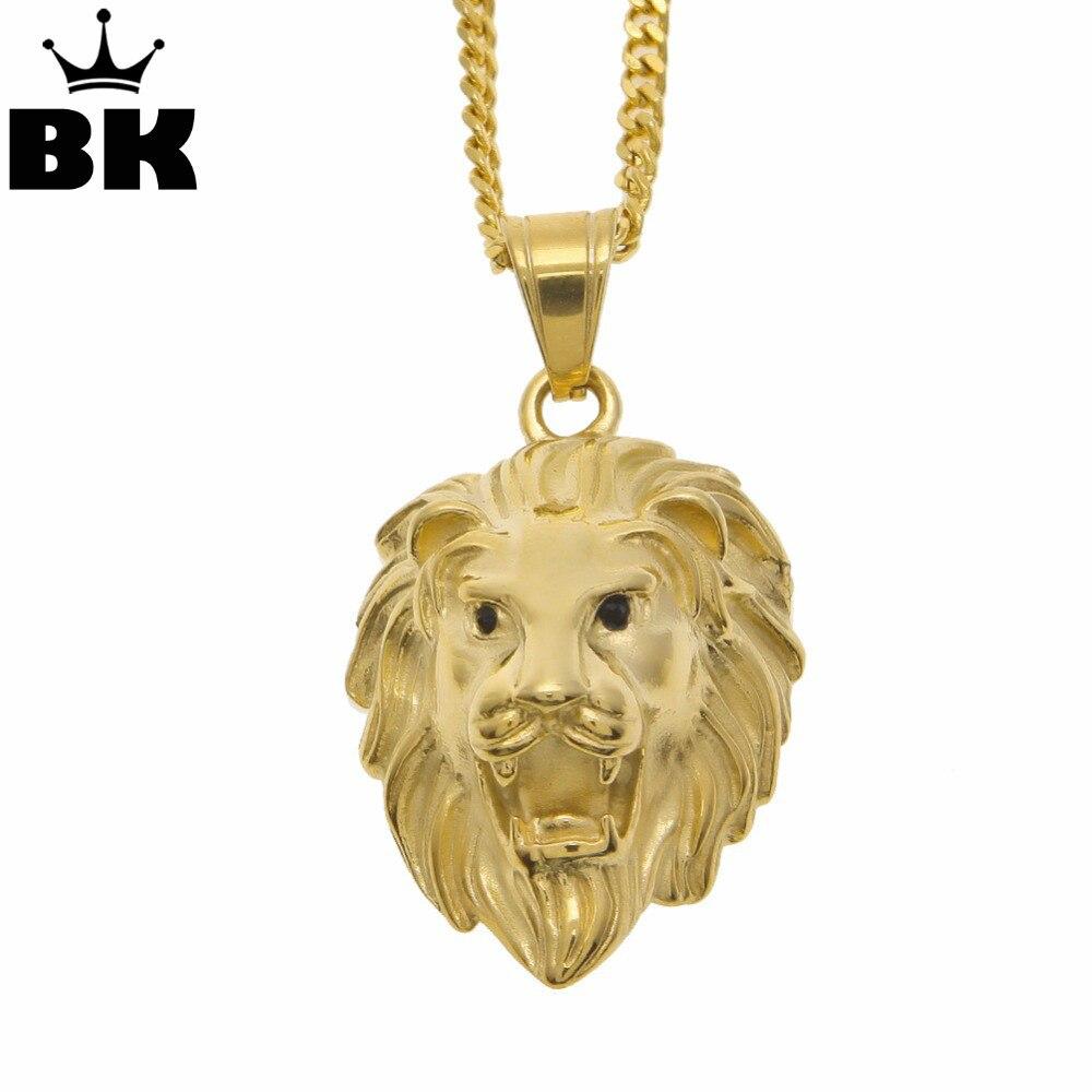 "24/""  Men Hip Hop Stainless Steel Silver Lion Head Pendant Necklace 3MM Box Chain"