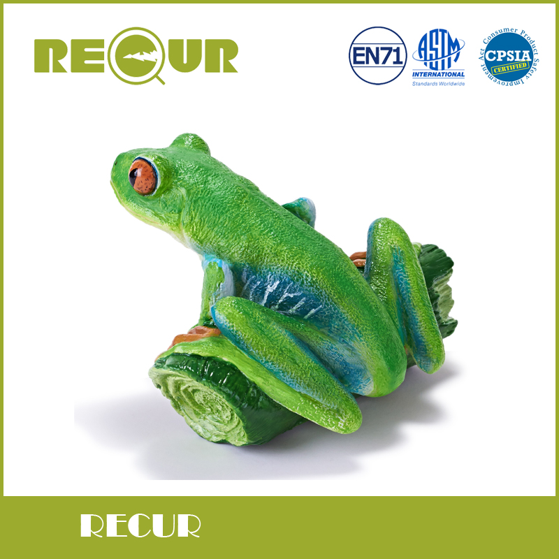 Recur Toys <font><b>Red-eyed</b></font> <font><b>tree</b></font> <font><b>frog</b></font> wild Animal Model PVC Toy Hand Painted Action Figure Soft Toys For Children and collectors