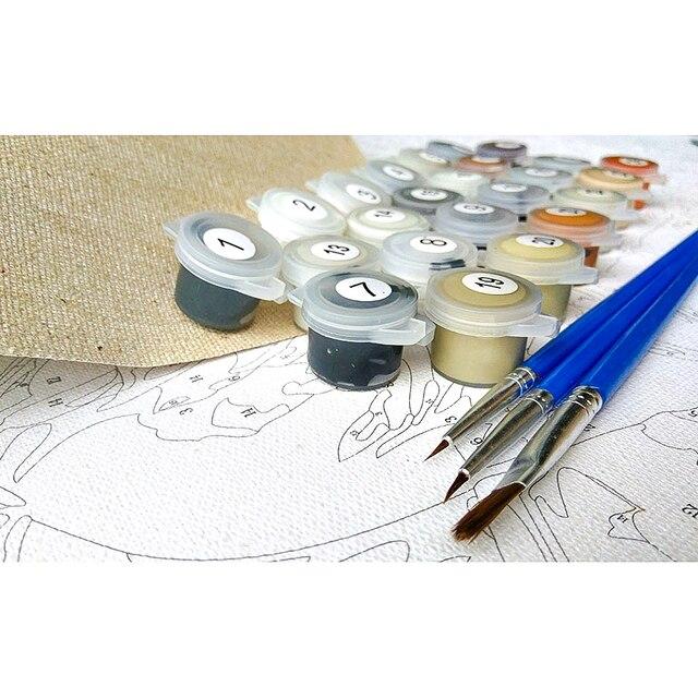 Купить набор для рисования по номерам на холсте собаки и рыбы с рамкой картинки цена
