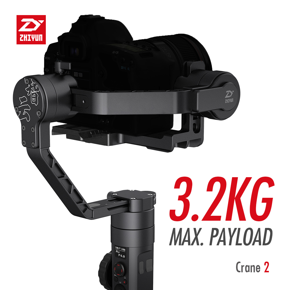 ZHIYUN Crane 2 3-Axis Handheld Gimbal Video Stabilizer with Servo Follow Focus for Canon 5D2 5D3 5D4 GH3 GH4 Sony DSLR Camera 3
