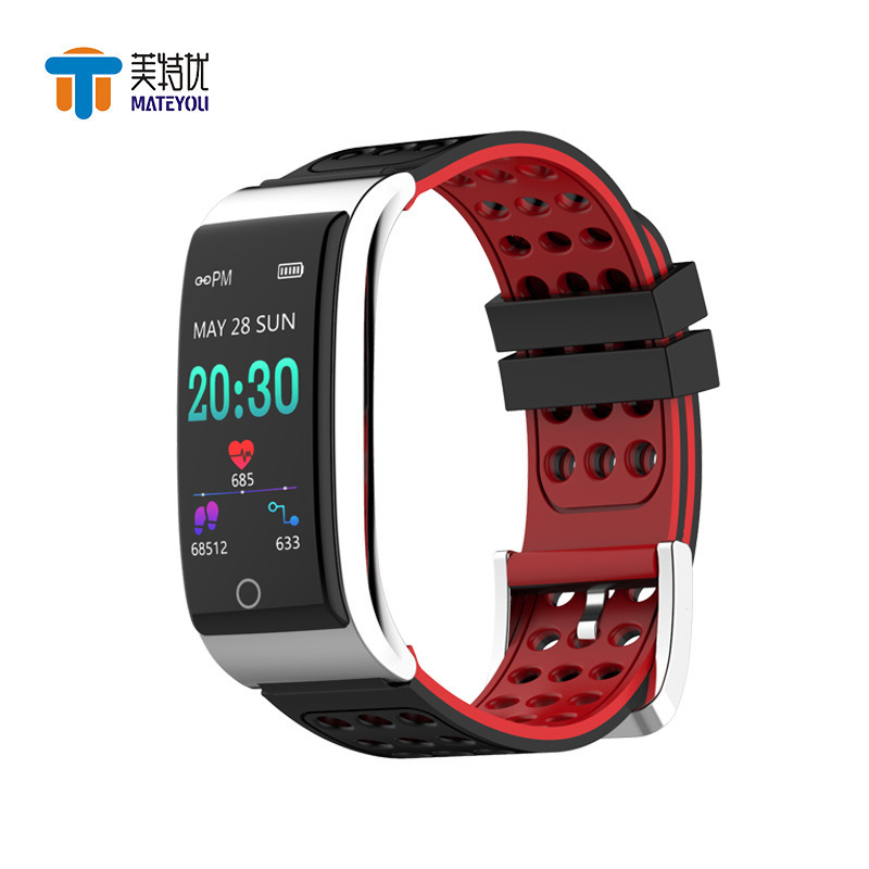 MATEYOU E08 watch color screen ecg smart bracelet digital Ip7 waterproof heart rate monitoring sports