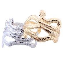 Fashion Snake Bangle Bracelet Wide Cuff Bracelet Bangle Women Men Gold Bangle Bracelet Indian Jewelry Pulseiras Snake wristband недорого