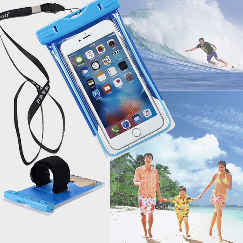Clear Waterproof Pouch Case Cell Phone For Samsung galaxy core prime 2 ace 4 Cover swim Camera Mobile Dry Bag Waterproof Case