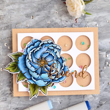 YaMinSanNiO New Flower Stamps and Circle Dies Scrapbooking 208 Alphabet Stamp Embossing Craft Silicone