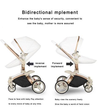 carrinho de bebe sentar reclinavel multifuncional dobravel luz