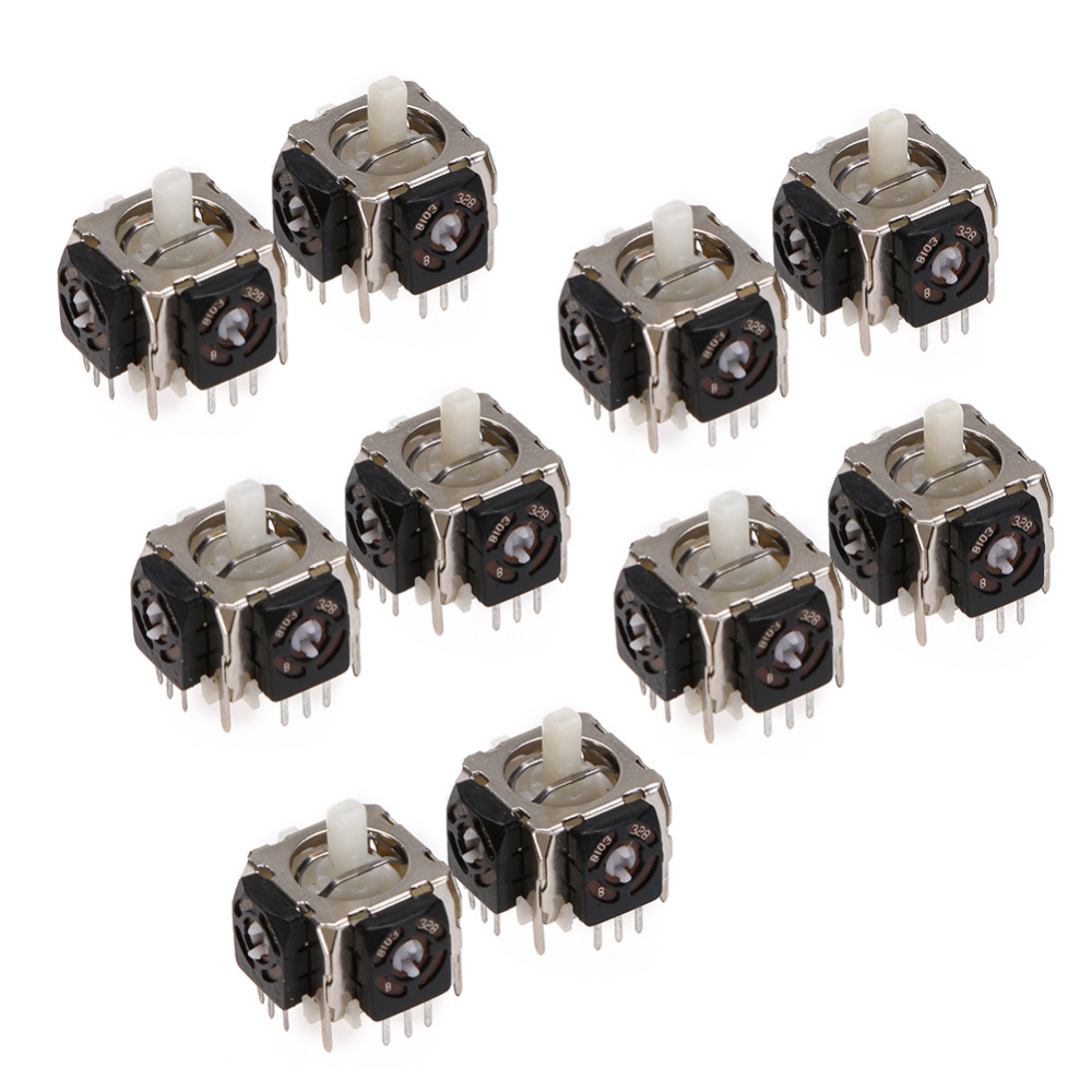 10Pcs/lot For Sony Replacement 3D Analog Joystick Axis Sensor Module 3 Pin For Playstation 3 PS3 Controller Repair Parts New