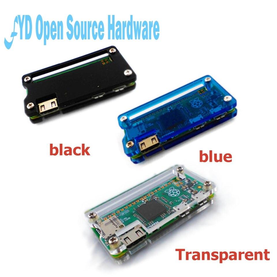 Framboesa pi zero acrílico caso 3 cores caixa escudo transparente preto azul acrílico caixa caixa clara para rpi zero