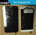 Cor preta Display LCD Tela Painel + Touch Screen Digitador Assembléia Lente de Vidro Para Huawei Ascend G7