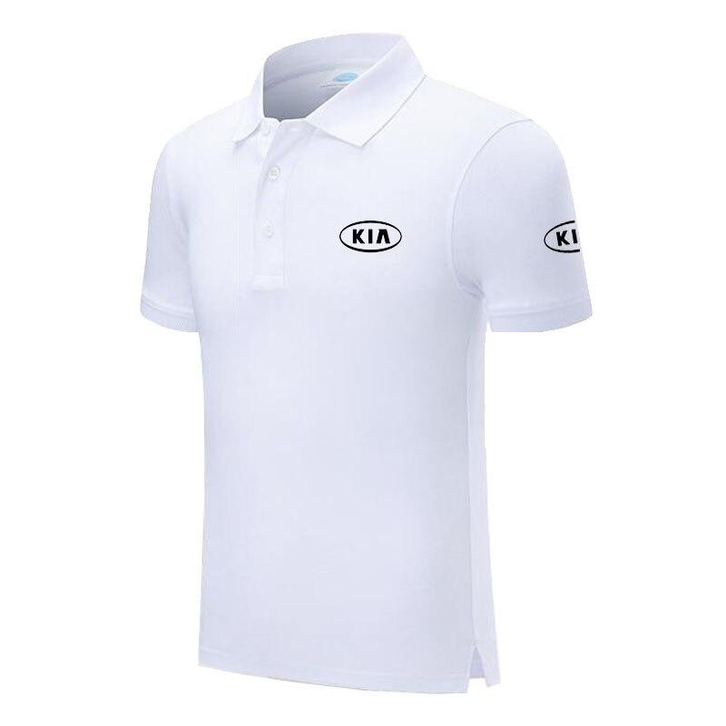 New Brand KIA logo   polo   shirt Men Short Sleeve Mens Cotton   Polo   Homens printed Casual   polo   shirt