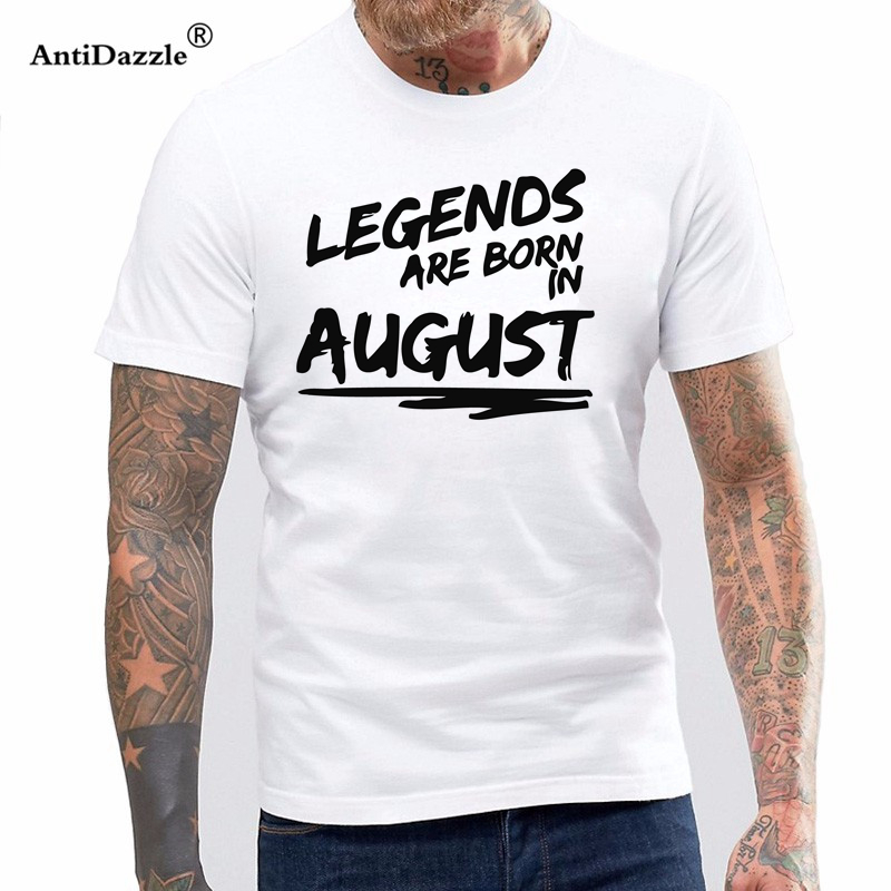 a7c1201d Funny Hip Hop Printed Funny legends are born in August T-shirt cool Cotton  Funny Short Sleeve T Shirt for men