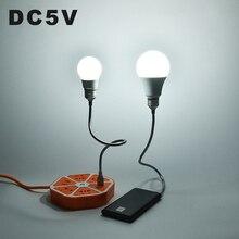 DC5V светодиодный светильник с USB шариковыми шариками 3 Вт 10 Вт ПВХ портативная аварийная лампа с гибким металлическим шлангом для портативного зарядного устройства