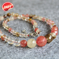 6-14mm Multicolor Watermelon Tourmaline Jasper beads Faceted Necklace women girls beads 18inch Jewelry making design wholesale