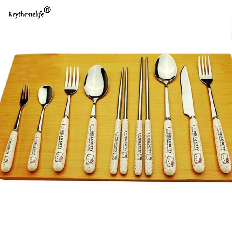 Keythemelife 1 stuk Hello kitty dinnerset Servies Cartoon Ceramic - Keuken, eetkamer en bar