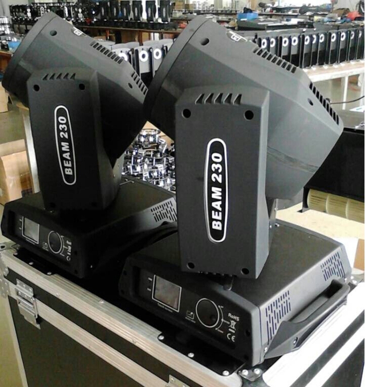 2pcs/lot with a flight case for 2 lights sharpy 7r beam moving head 230w light for nightclub shows volta flight case for 2 pcs of la 208 top