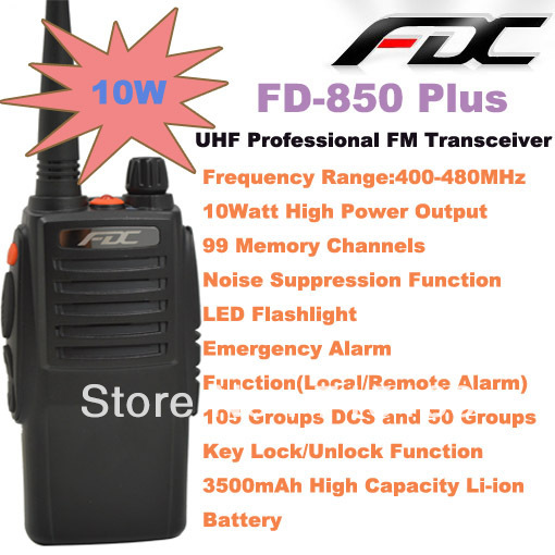 2013 February New Arrival FD-850 Plus 10Watt UHF 400-470MHz Professional FM Transceiver2013 February New Arrival FD-850 Plus 10Watt UHF 400-470MHz Professional FM Transceiver