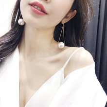 2019 New Long Pearl Earrings For Women Elegant Party Jewelry Korean Statement pendientes All Match