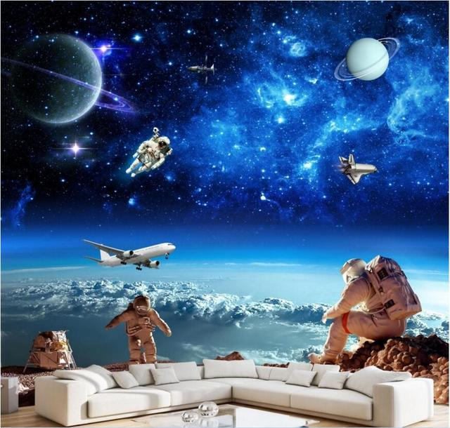 Custom Mural Photo 3d Wallpaper Space Star Galactic Astronaut Spaceship  Decoration Painting 3d Wall Murals Wallpaper