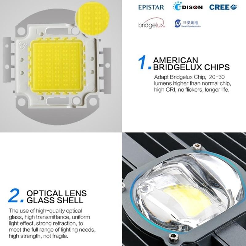 LED Street Light 30W 50W No Solar Street Light AC85-265V Off Road Led Street Lamp Plaza Eclairage Led Exterieur Outdoor IP65 6