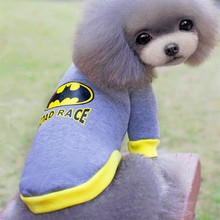 Hot Cotton Cartoon Dog Hat Sportswear Clothes Superman Bat Coat Wool Sweater French Pet Supplies
