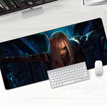 World of Warcraft Mouse pad Lock Edge XL Large Mousepad Speed Gaming Gamer Laptop Computer Rubber Keyboard Notebook Mat Sylvanas