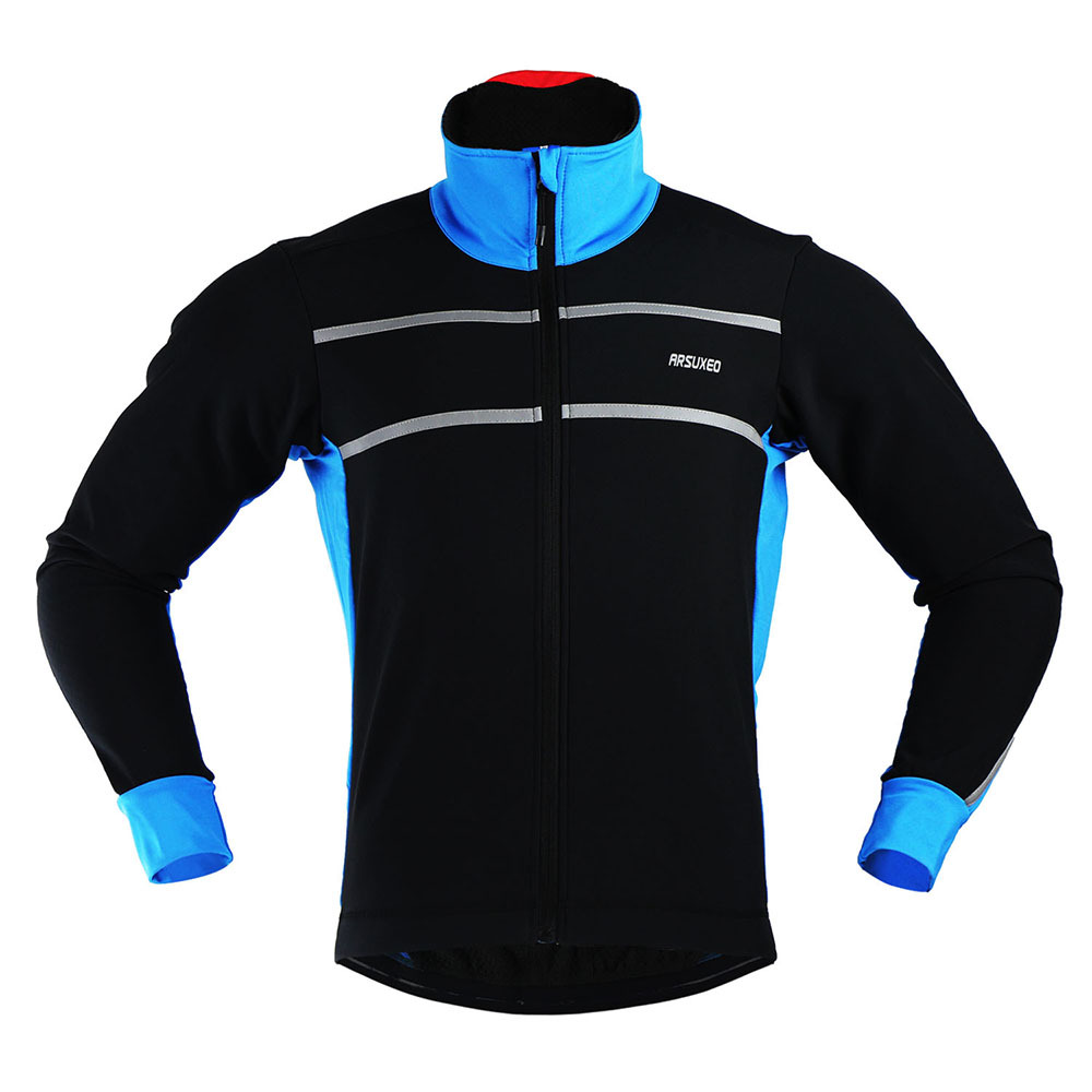 2016 Winter Men's Long Sleeve Cycling Jackets with thermal Fleece Windproof Running Outdoor Sports Coat MTB Clothes Bike Jacket  wosawe outdoor sports windproof winter long sleeve cycling jacket unisex fleece thermal mtb riding bike jersey men s coat