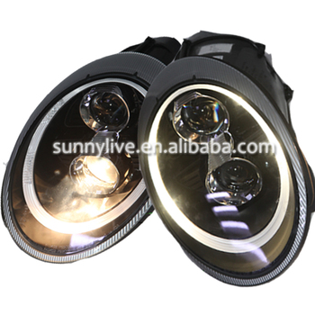 For Porsche 997 2006-2010 LED Head LampYear Black Housing SN