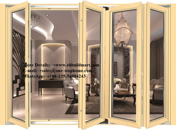 Double Glazing Lowes Bi Fold Door,black Aluminum Glass Interior Doors,interior Glass Doors Room Divider Top,indoor Doors