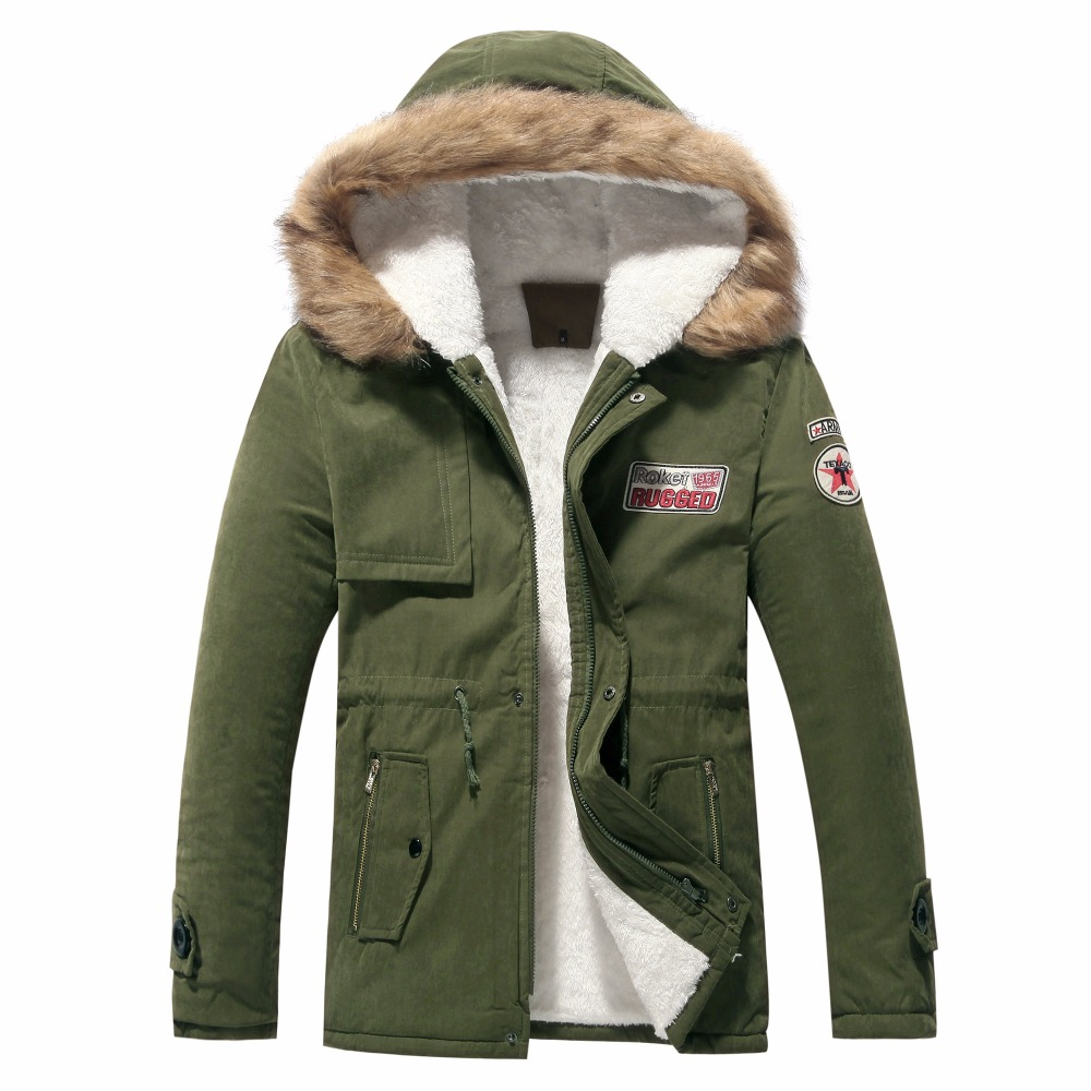 Parka   Men Winter Jacket 2018 Thicken Fur Hooded Coat Warm Outwear Homme Brand Clothing Casual Cotton-Padded Overcoat Windproof