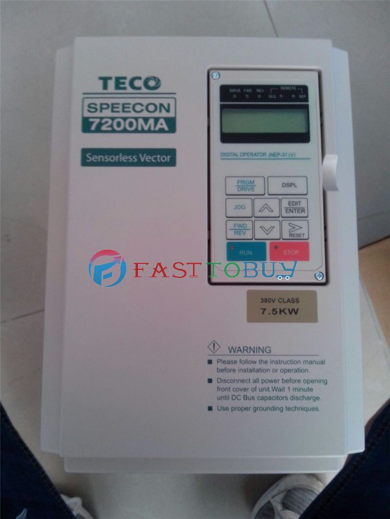 NEW Inverter VFD Variable Frequency 7.5KW 10HP 380V 400Hz TECO 7200MA CNC Spindle Motor Speed control 1Year Warranty new vfd variable frequency drive inverter 0 75kw 1hp 380v 400hz teco 7200ma vfd cnc spindle motor speed control 1year warranty