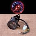 Мотоцикл LED Пробега Спидометр Датчик с Индикатор Сброс Переключатель Для Honda Yamaha KTM Harley-Davidson Bobber Chopper